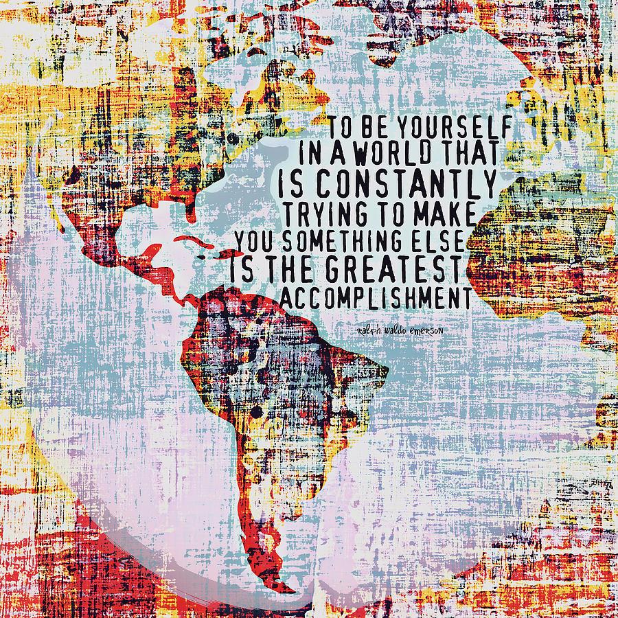 Brandi Fitzgerald Digital Art - The Greatest Accomplishment Emerson V3 by Brandi Fitzgerald