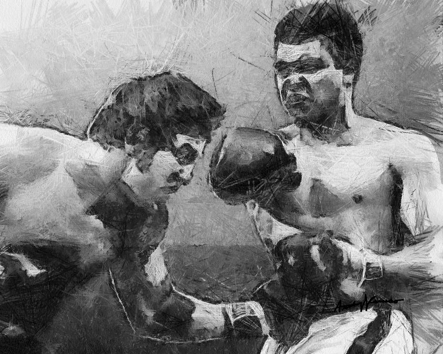 Ali Drawing - The Greatest by Anthony Caruso