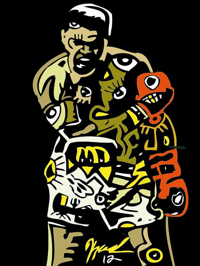 Muhamadali Digital Art - The Greatest  by Kamoni Khem