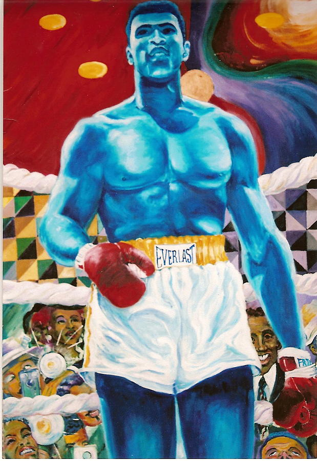 Mohammed Ali Painting - The Greatest by Lee Ransaw