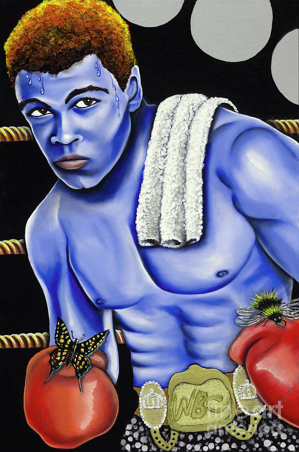 Blue Paintings Painting - The Greatest by Nannette Harris