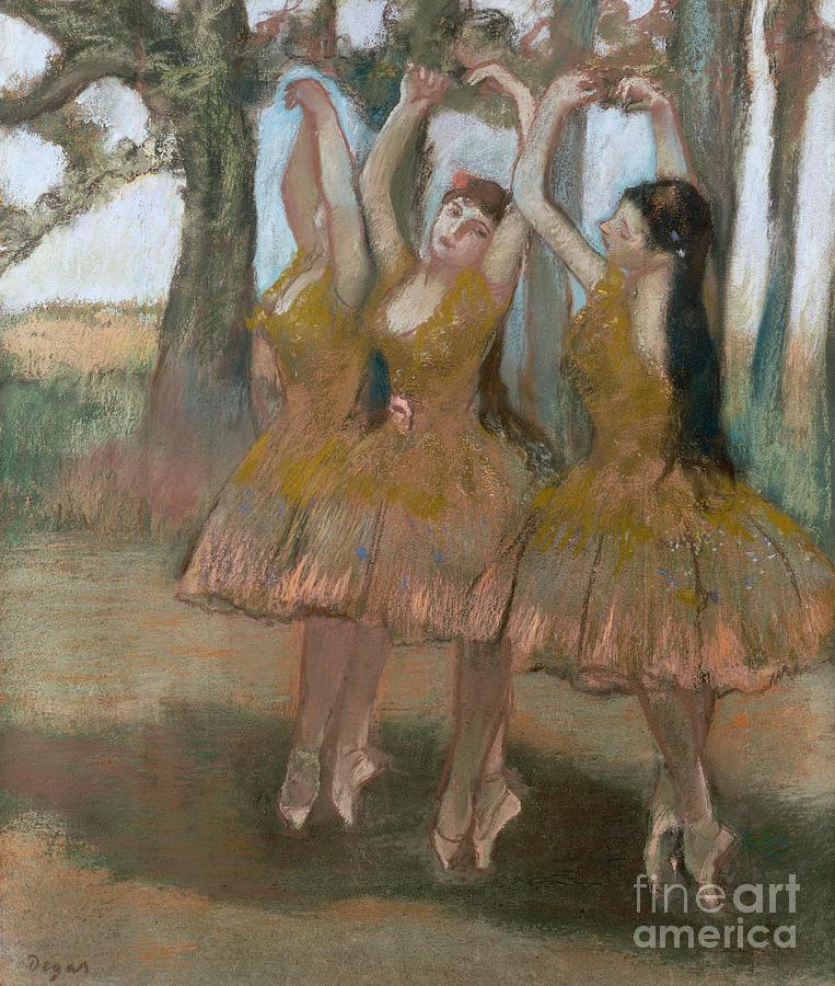 The Greek Dance Painting - The Greek Dance by Edgar Degas