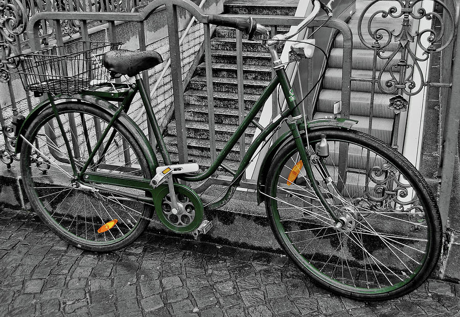 Bike Photograph - The Green City by JAMART Photography