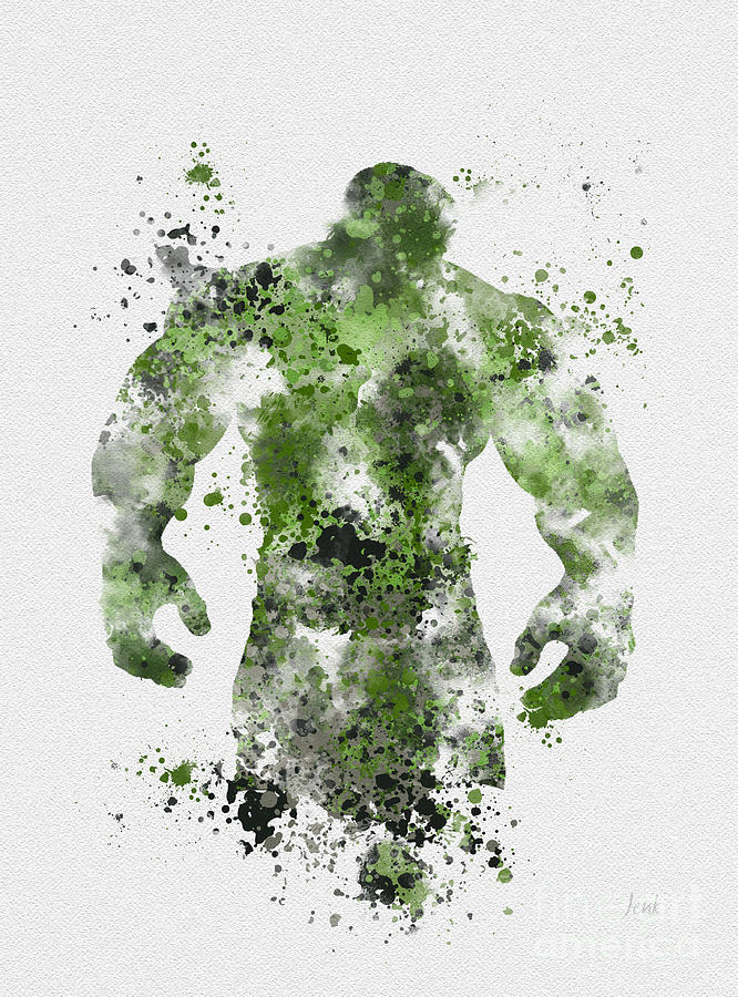 Incredible Hulk Mixed Media - The Green Giant by My Inspiration