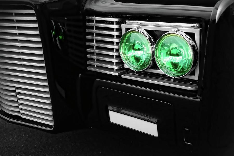 The Photograph - The Green Hornet Black Beauty Clone Car by Gordon Dean II
