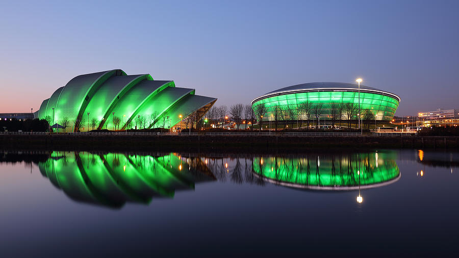 Clyde Auditorium Photograph - The Green Hour by Grant Glendinning