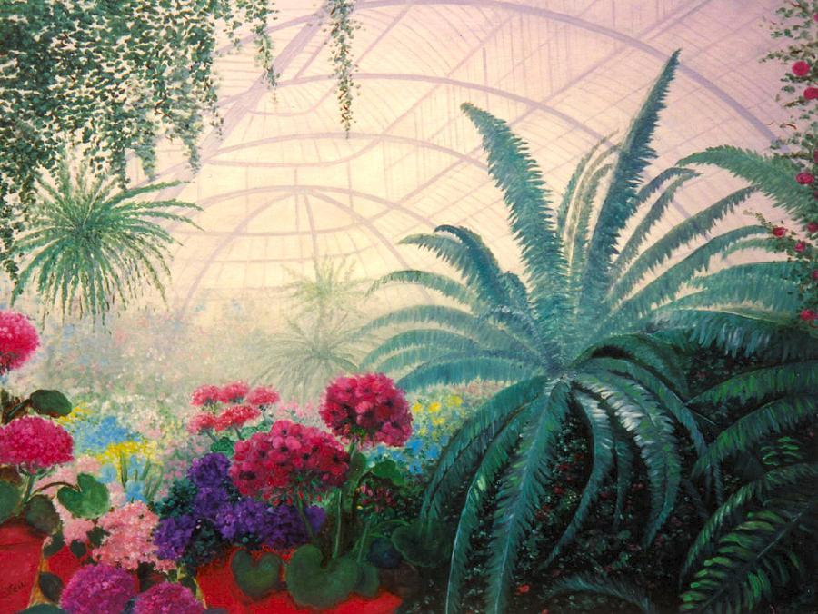 Greenhouse Digital Art - The Green House by Jeanene Stein