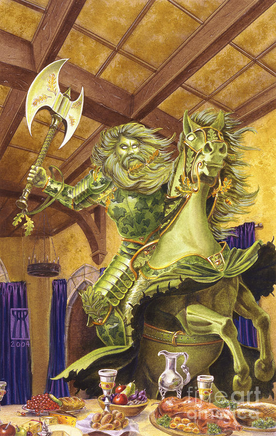 Art Print Painting - The Green Knight by Melissa A Benson