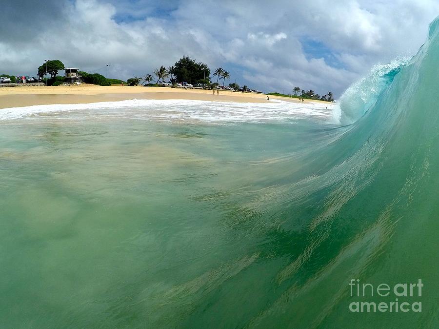 Wave Photograph - The Green Monster  by Benen  Weir