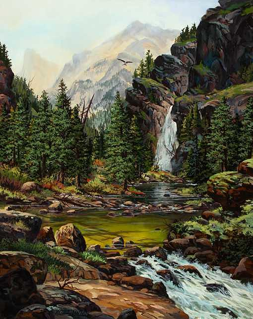 The Green Pool Painting by W  Scott Fenton