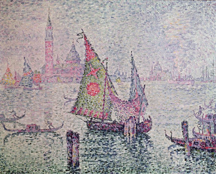 Venice Painting - The Green Sail by Paul Signac