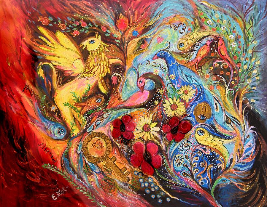 Original Painting - The Griffin Kingdom by Elena Kotliarker