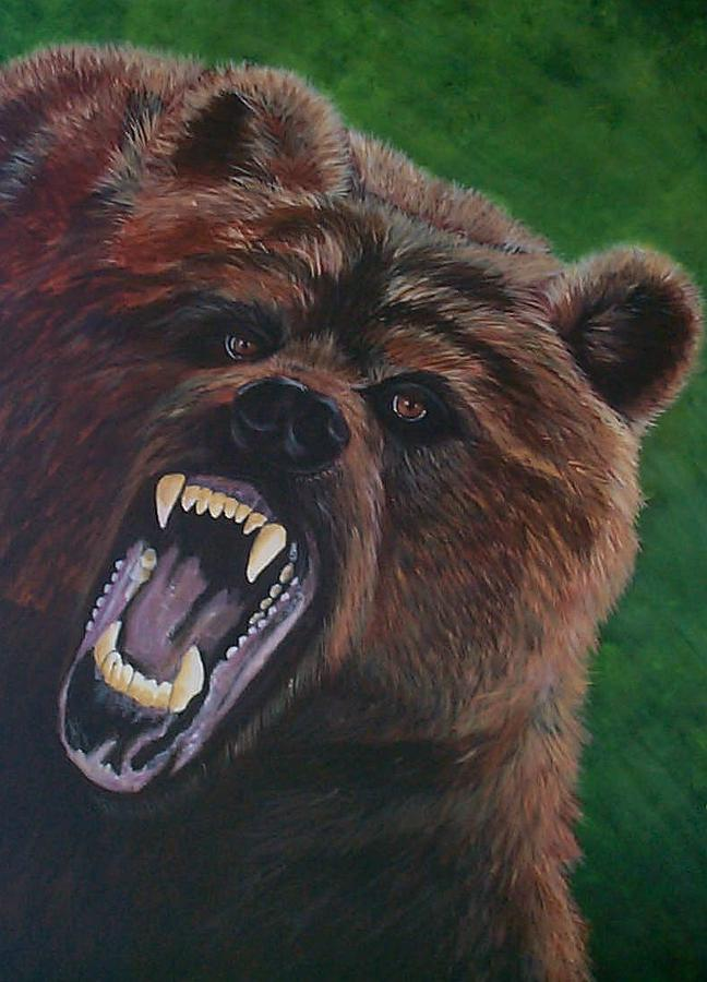 Grizzly Painting - The Grizzly by Linda Turner