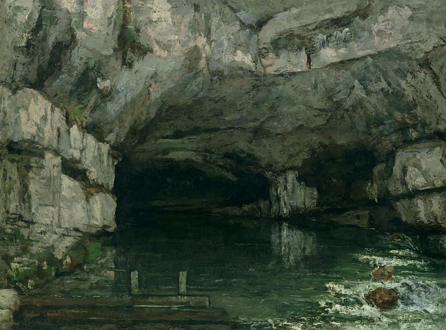 The Painting - The Grotto Of The Loue by Gustave Courbet