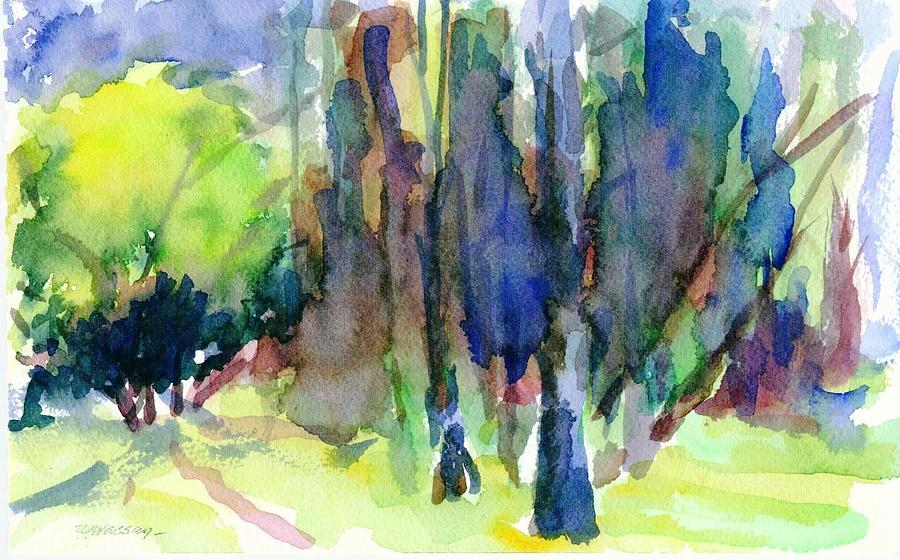 Landscape Painting - The Grove 2 by Ujjagar Singh Wassan