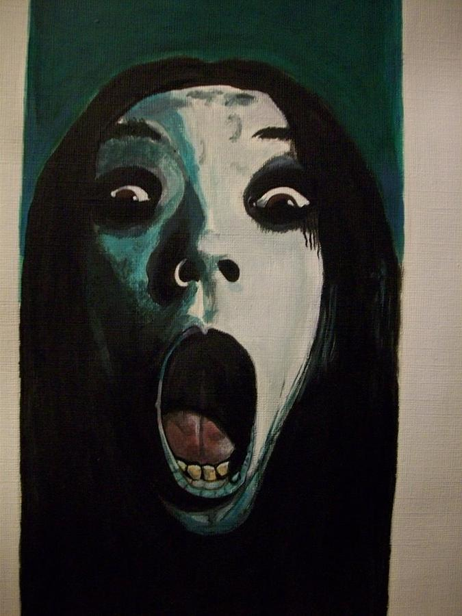 Well-known The Grudge Horror Painting by Teresa Hales NQ39