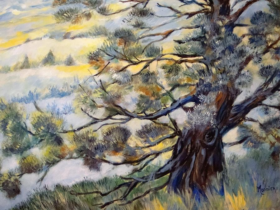 Tree Painting - The Guardian Of The Valley by Cathy MONNIER