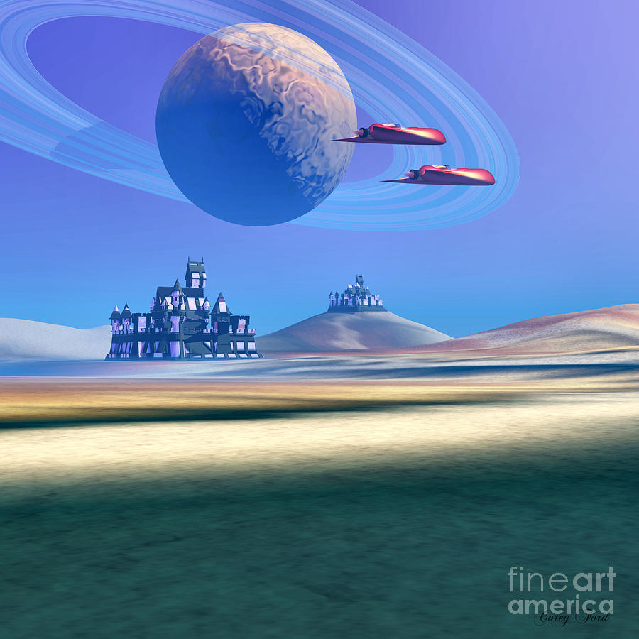 Architecture Painting - The Guardians by Corey Ford