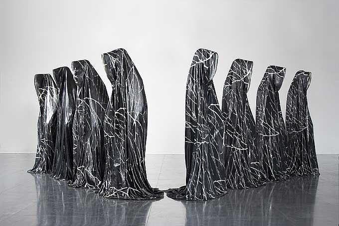 The Guardians Of Time On Worldtournee Sculpture by Manfred Kielnhofer