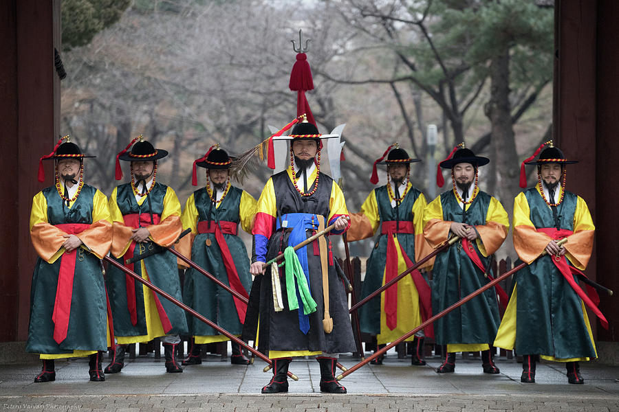 Asia Photograph - The Guards Of Seoul. by Peteris Vaivars
