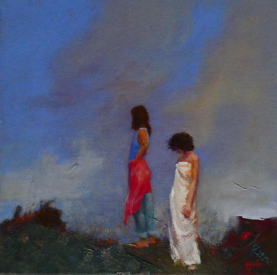 Women Painting - The Guilt Sold by Irena Jablonski
