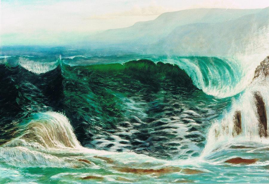 Sea Painting - The Gulf by Brett McGrath