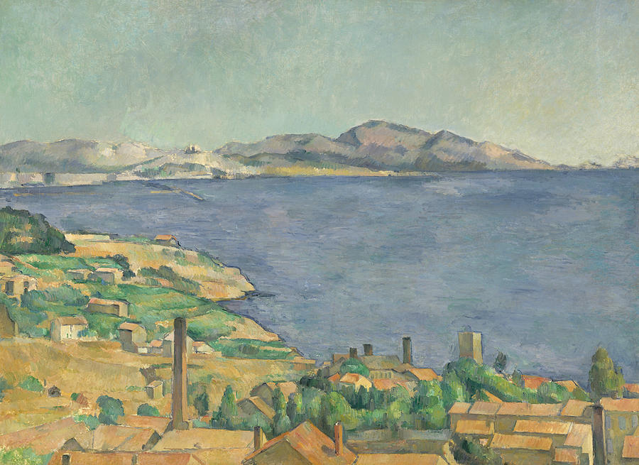 French Painters Painting - The Gulf Of Marseilles Seen From Lestaque by Paul Cezanne