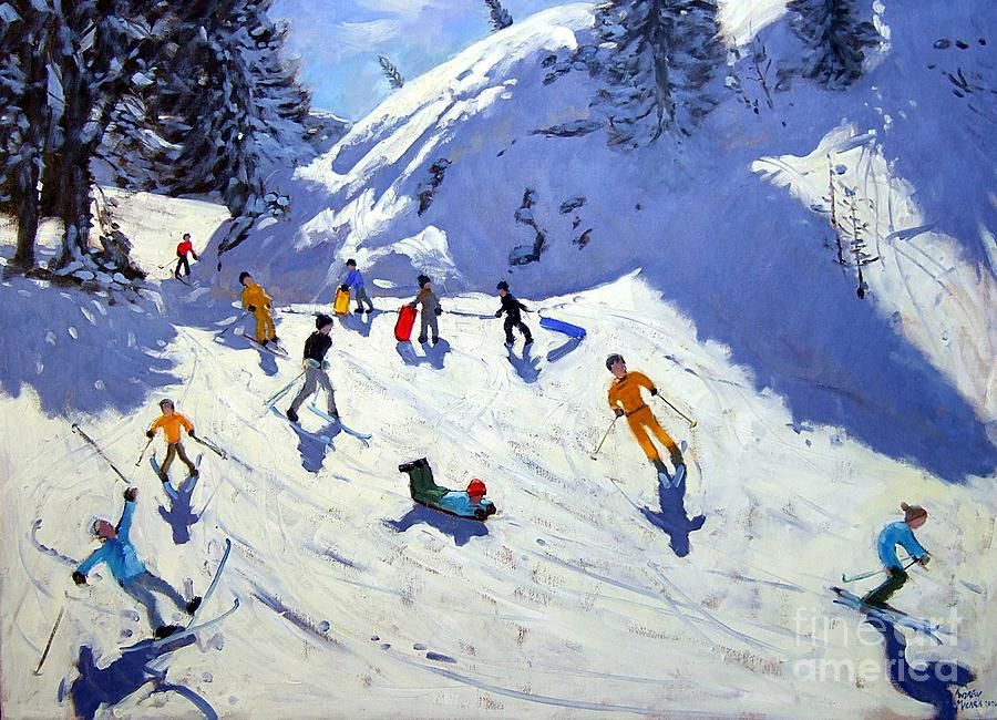 Sledging Painting - The Gully by Andrew Macara