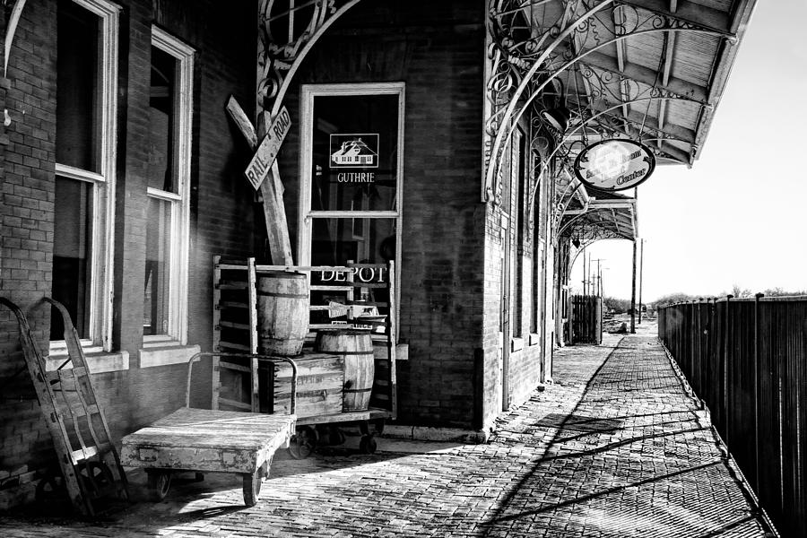The Guthrie Santa Fe Depot Photograph By Lana Trussell