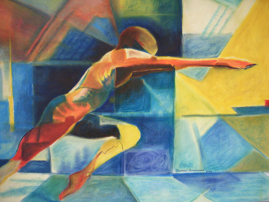 The Gymnast  Painting by Benedict Olorunnisomo