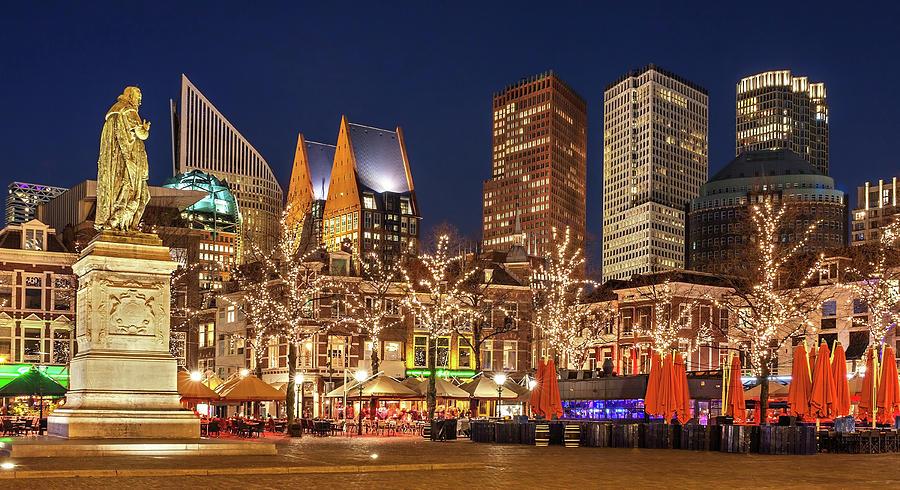 The Hague Photograph - The Hague Skyline from the Plein by Barry O Carroll
