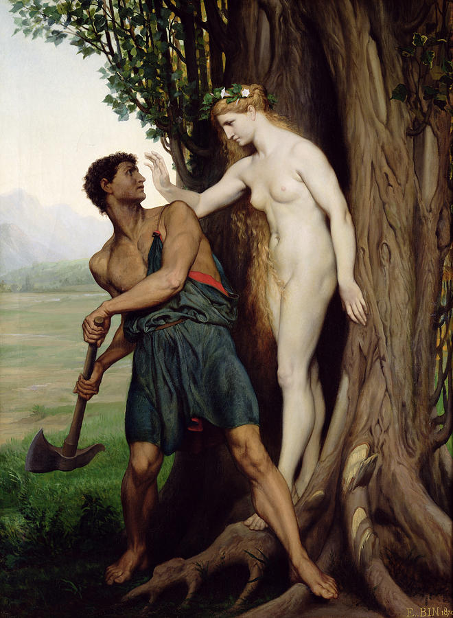The Painting - The Hamadryad by Emile Bin