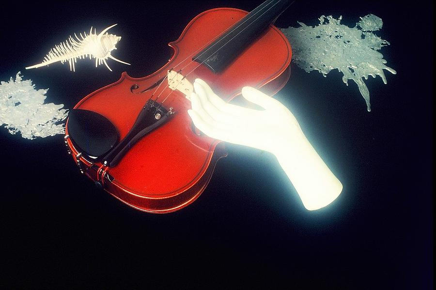 Music Photograph - The Hand And The Violin by David RedHawk