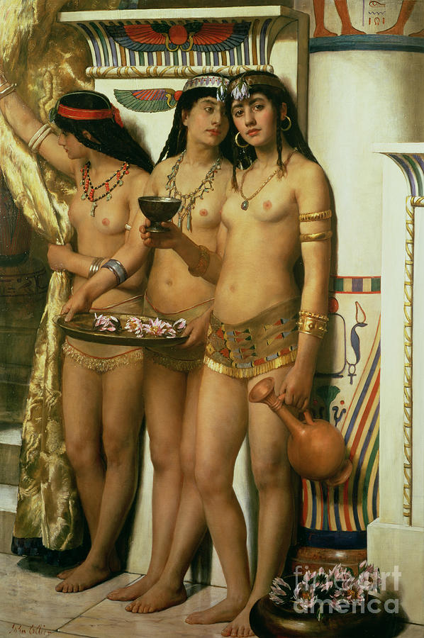 Royalty Painting - The Handmaidens of Pharaoh by John Collier