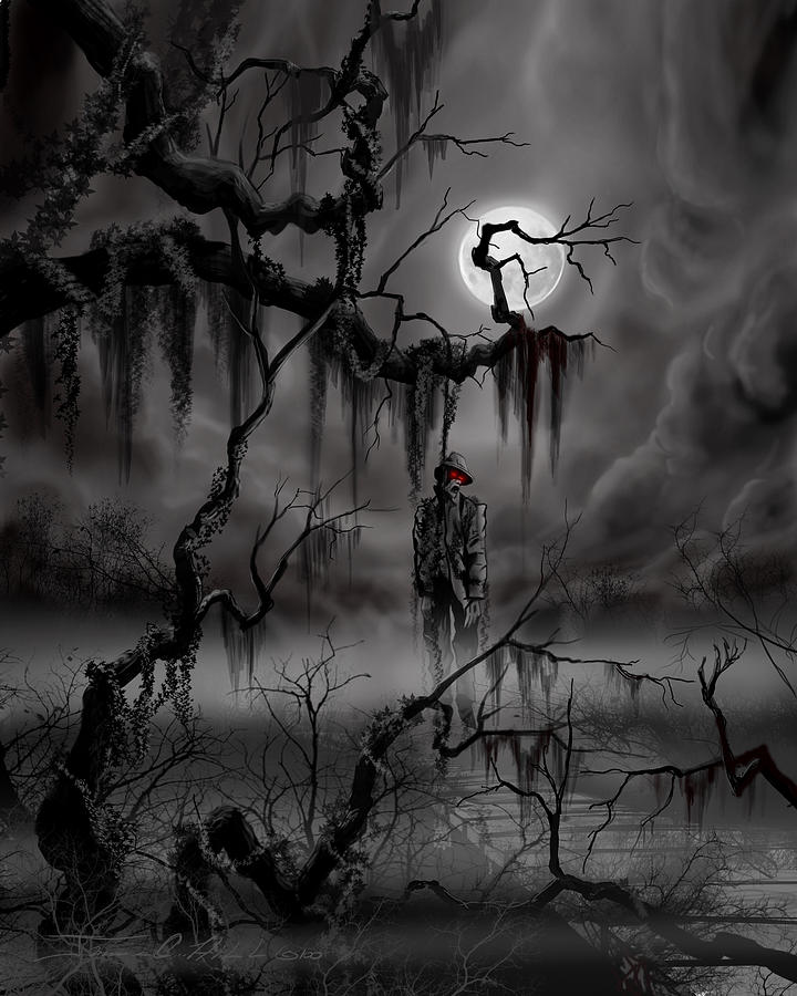 Nightmare Painting - The Hangman by James Christopher Hill