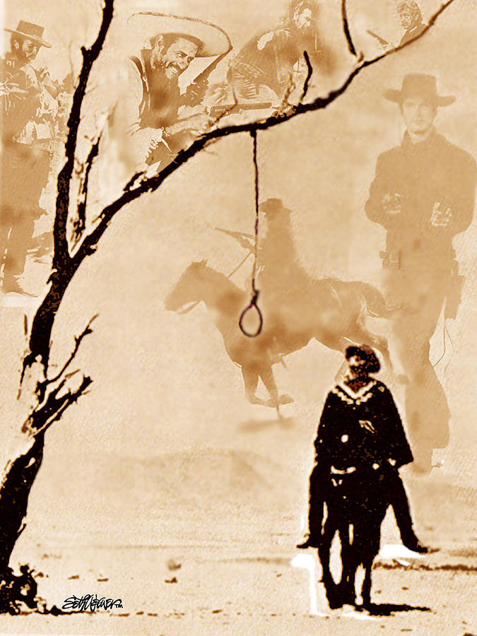 Clint Eastwood Digital Art - The Hangmans Tree by Seth Weaver