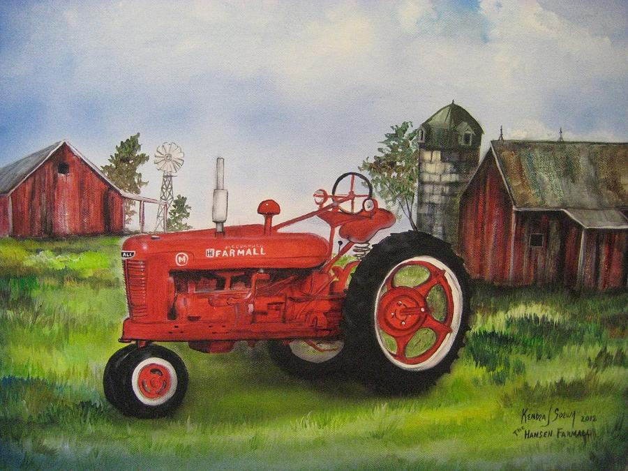 Farmall Painting - The Hansen Tractor by Kendra Sorum