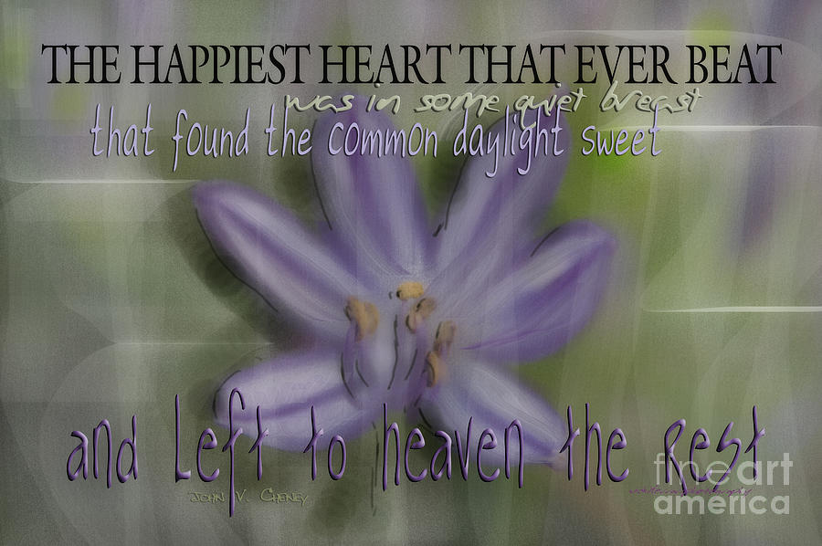 Purple Photograph - The Happiest Heart That Ever Beat by Vicki Ferrari