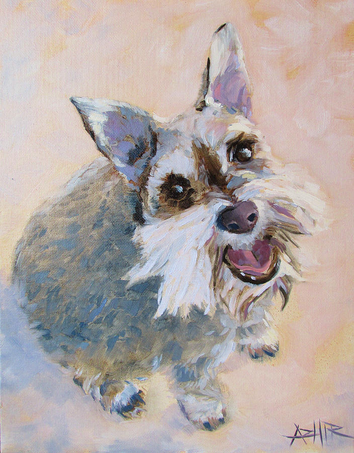Dog Painting - The Happy Dog by Azhir Fine Art