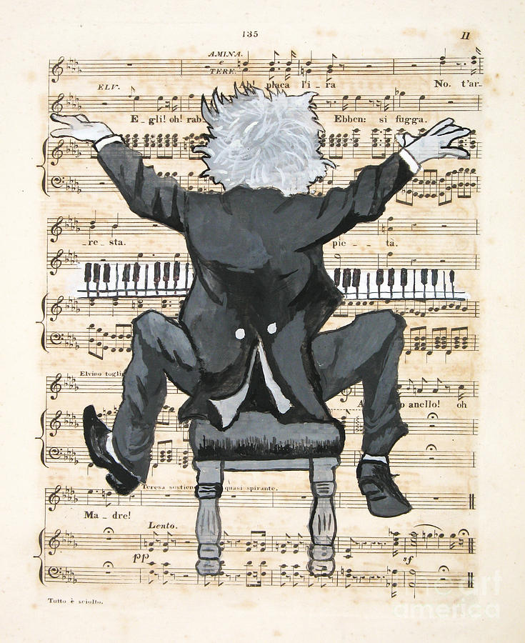 Pianist Painting - The Happy Pianist by Paul Helm