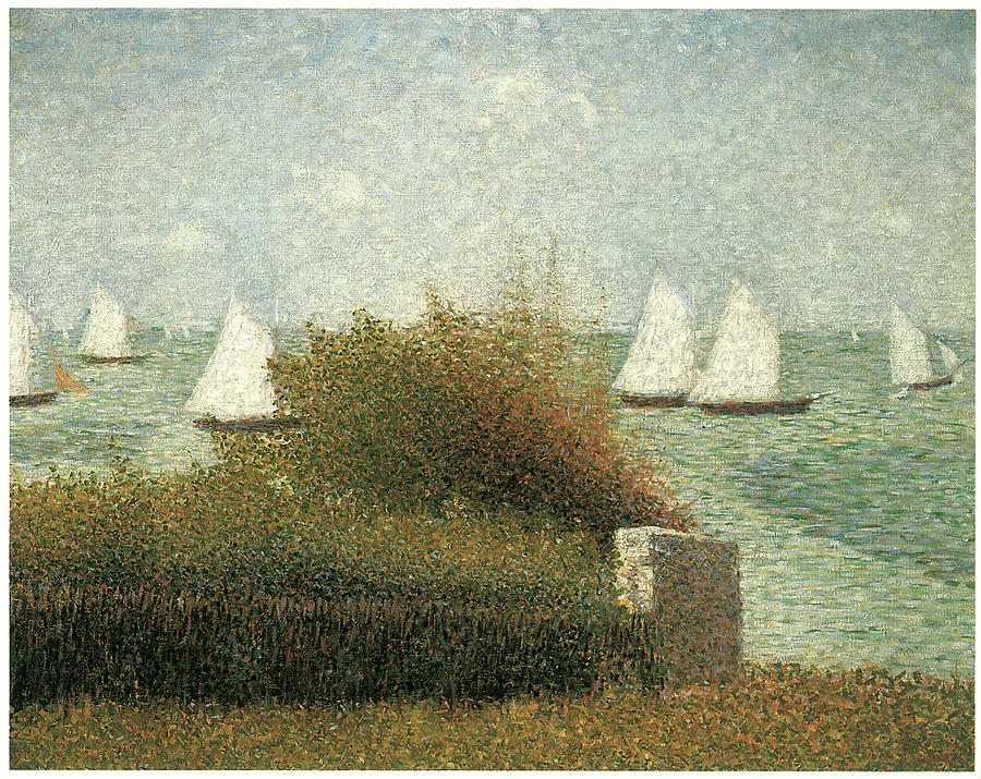 Georges Seurat Painting - The Harbor At Grandcamp by Georges Seurat