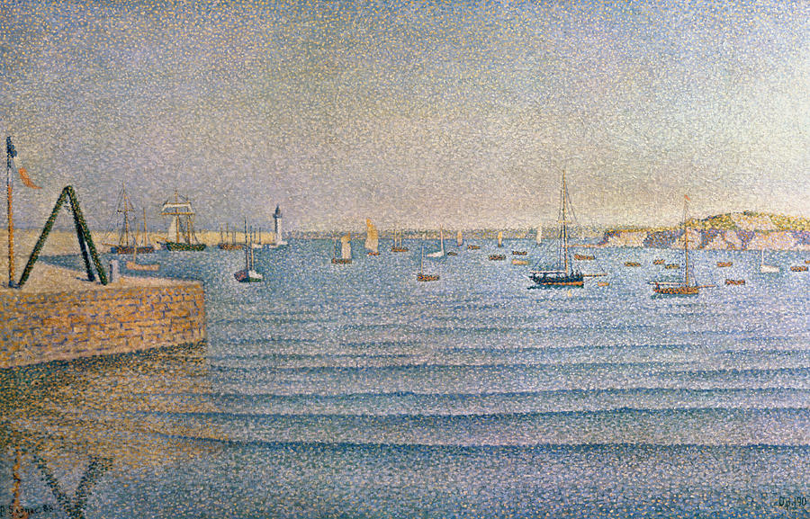 Signac Painting - The Harbour At Portrieux by Paul Signac