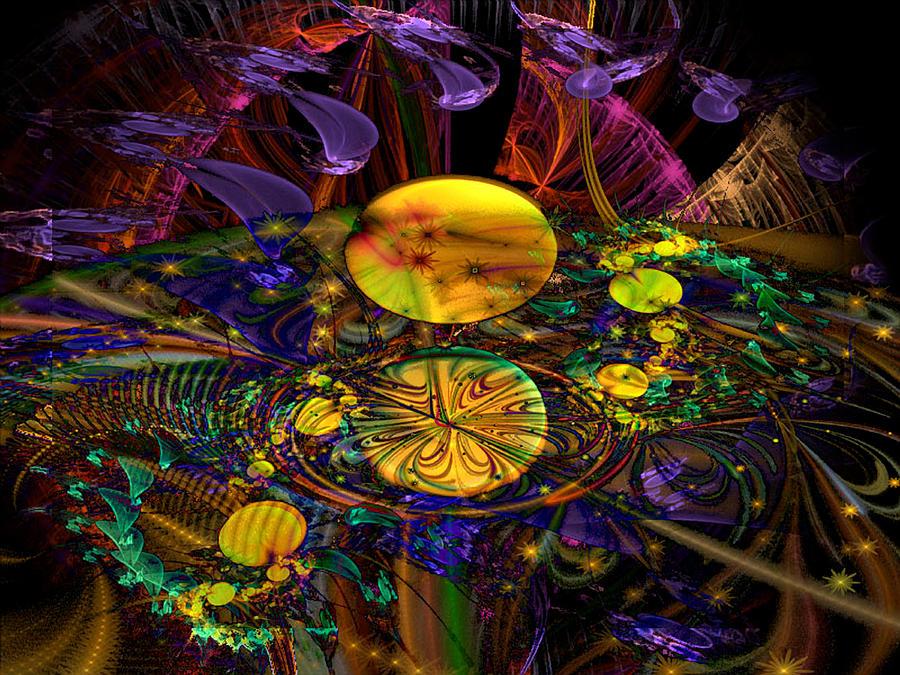 Science-fiction Digital Art - The Harmony Of Truly Cosmic Spheres by ReeNee Cummins