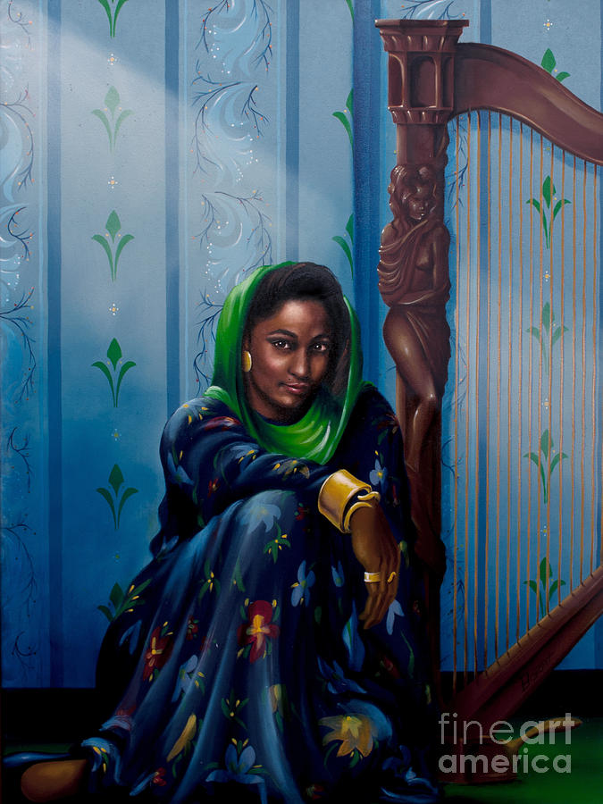The Harpist by Clement Bryant