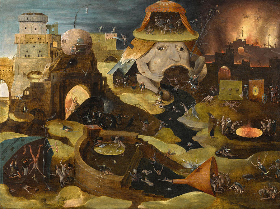 Castle Painting - The Harrowing Of Hell  by Follower of Hieronymus Bosch