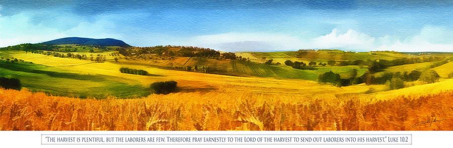 Christian Digital Art - The Harvest Is Plentiful by Dale Jackson