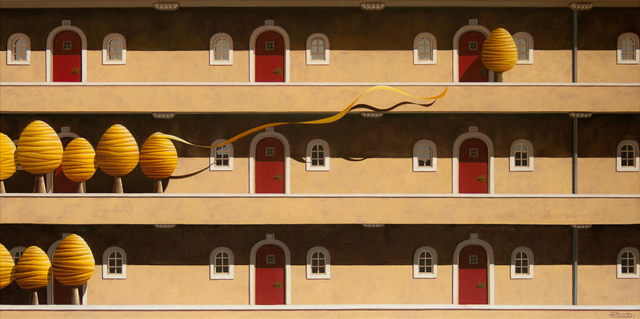 Architecture Painting - The Hasty One by Patricia Van Lubeck