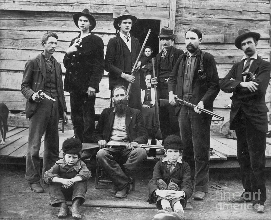 1899 Photograph - The Hatfields, 1899 - To License For Professional Use Visit Granger.com by Granger