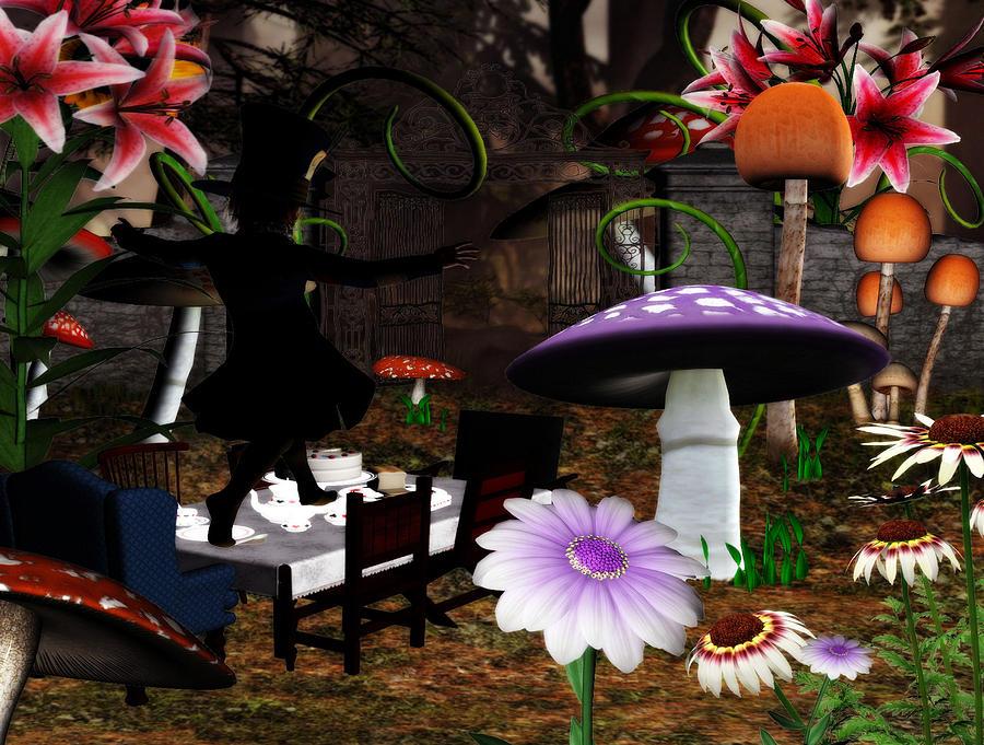 The Hatter Tea Digital Art by Lisa Roy