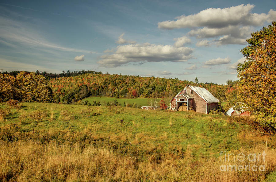 Landscape Photograph - The Hay Barn by Diana Nault